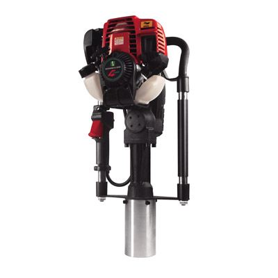 DPD-80 4-Stroke Guardrail Post Driver Gas Powered Portable Pile Driver